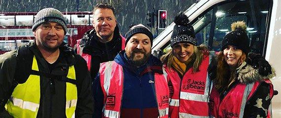 Pass It On volunteers in the Winter